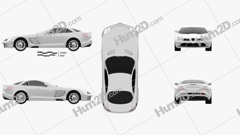 Mercedes-Benz SLR McLaren 2005 car clipart