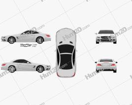 Mercedes-Benz SL-class 2012 car clipart