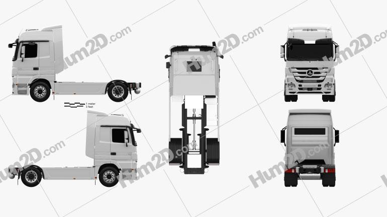Mercedes-Benz Actros Tractor 2-axle 2011 clipart