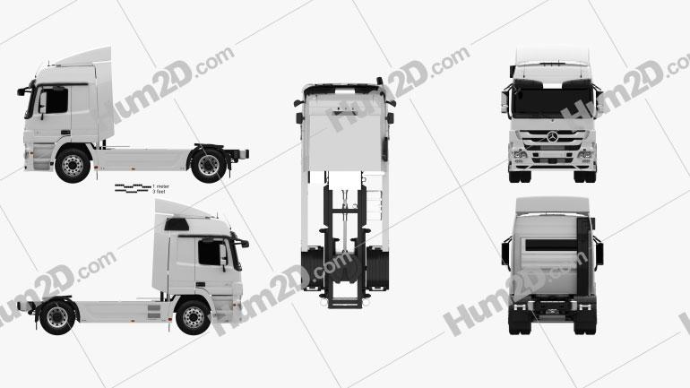 Mercedes-Benz Actros Tractor Truck 2011 clipart