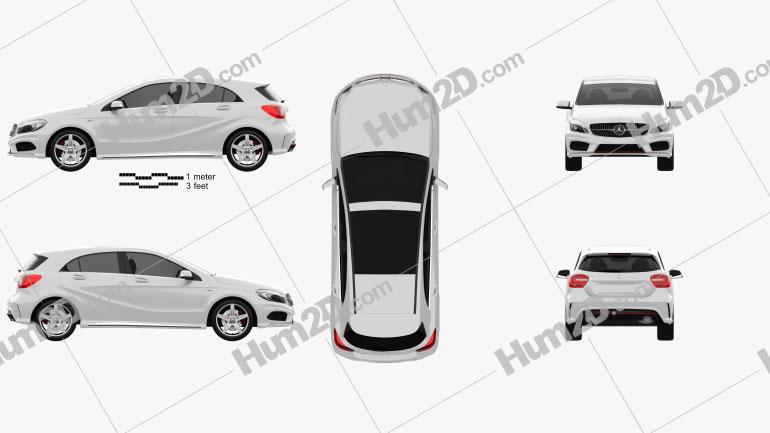 Mercedes-Benz A-class 2013 car clipart