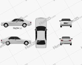 Mercedes-Benz S-class (W140) 1999 car clipart