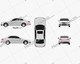 Mercedes-Benz E63 AMG (W212) sedan 2010 car clipart