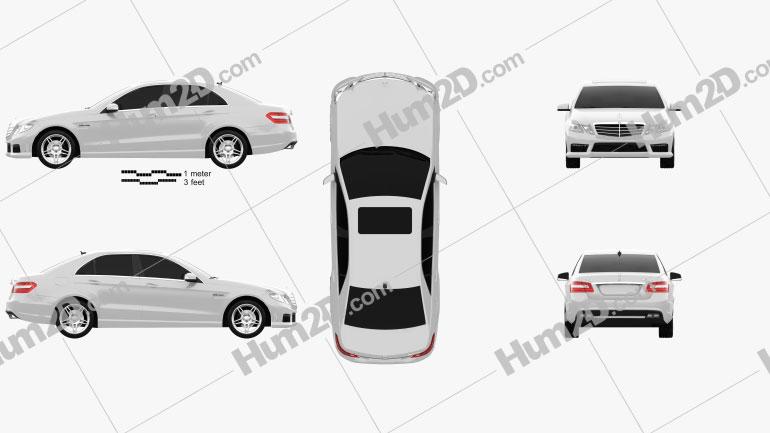 Mercedes-Benz E63 AMG (W212) sedan 2010 Clipart Image