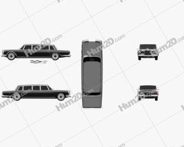Mercedes-Benz 600 W100 Pullman 1964 car clipart