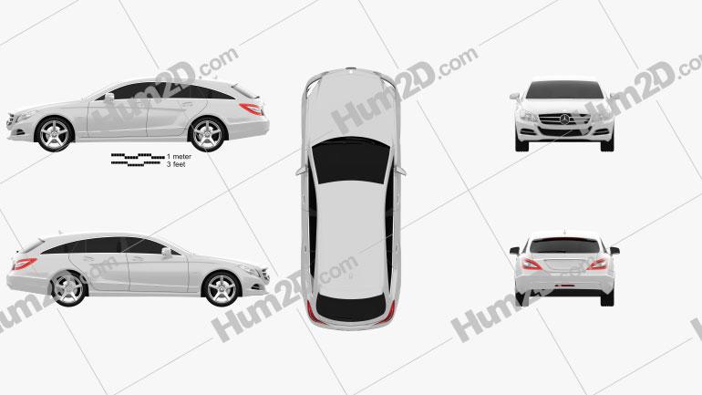 Mercedes-Benz CLS-Class X218 Shooting Brake 2013 car clipart