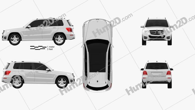 Mercedes-Benz GLK-Class X204 2013 Clipart Image