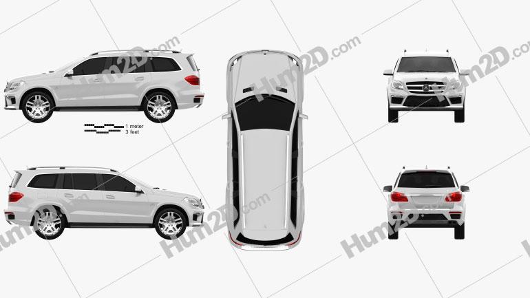 Mercedes-Benz GL-Class X166 AMG 2013 car clipart