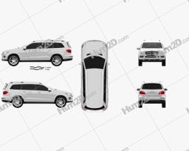 Mercedes-Benz GL-Class X166 2013 Clipart