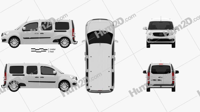 Mercedes-Benz Citan Crew Bus 2012 clipart