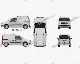 Mercedes-Benz Citan Delivery Van 2012 clipart