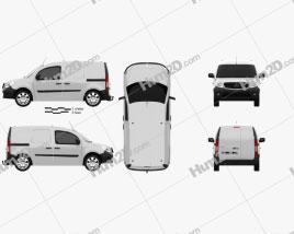Mercedes-Benz Citan Mixto 2012 clipart