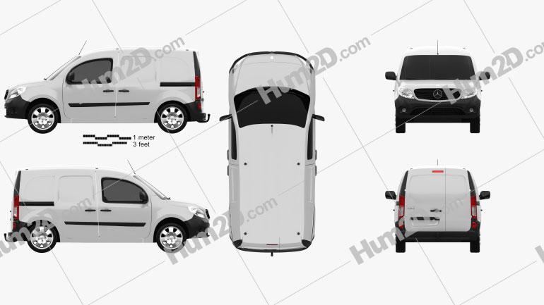 Mercedes-Benz Citan Mixto 2012 Clipart Image