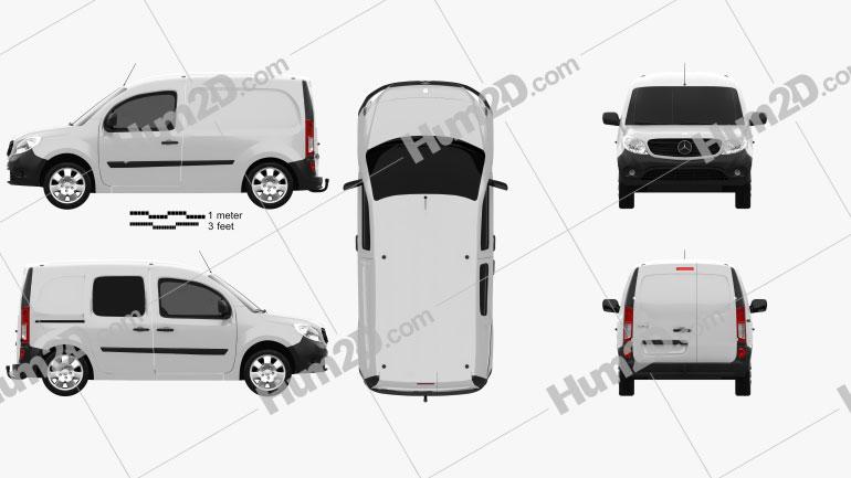 Mercedes-Benz Citan Panel Van 2012 clipart