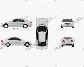 Mercedes-Benz C-class (W203) sedan 2005 car clipart