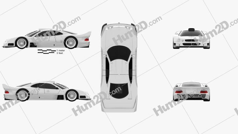 Mercedes-Benz CLK-class GTR AMG 1999 Clipart Image