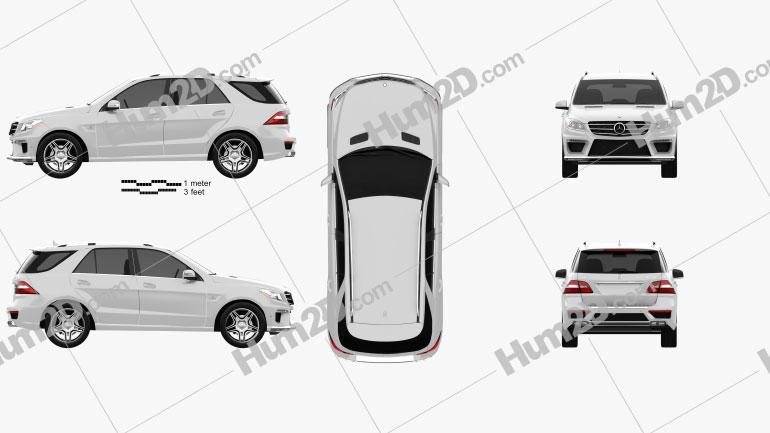 Mercedes-Benz ML-class AMG (W166) 2012 Clipart Image