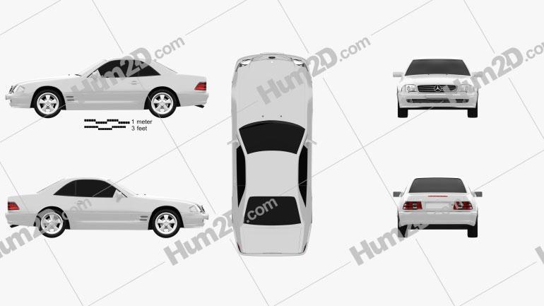 Mercedes-Benz SL-class (R129) 2002 car clipart