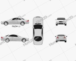 Mercedes-Benz CL-Class (W215) 2006 car clipart