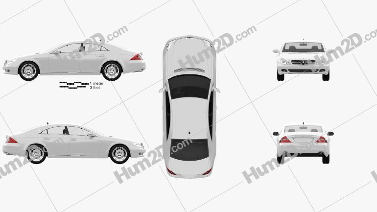 Mercedes-Benz CLS-Class (C219) 2006 car clipart