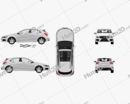 Mercedes-Benz A-class with HQ interior 2013 car clipart