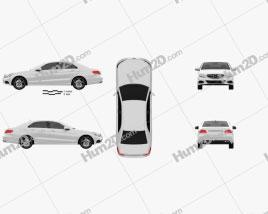 Mercedes-Benz E-class (W212) sedan 2014 car clipart