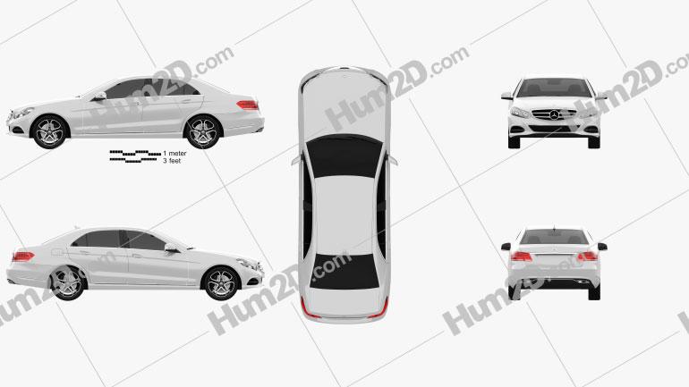 Mercedes-Benz E-class (W212) sedan 2014 Clipart Image