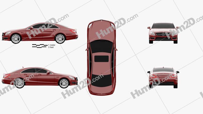 Mercedes-Benz CLS-Class 63 AMG 2012 car clipart