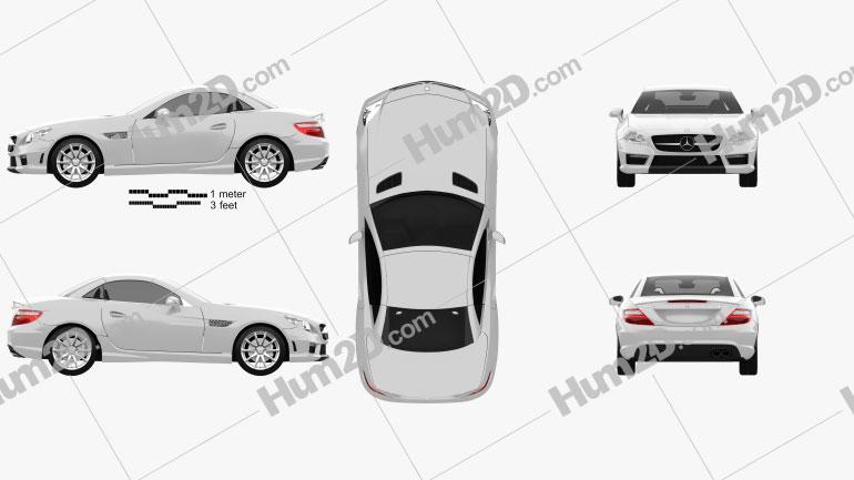 Mercedes-Benz SLK-class 55 AMG 2012 Clipart Image