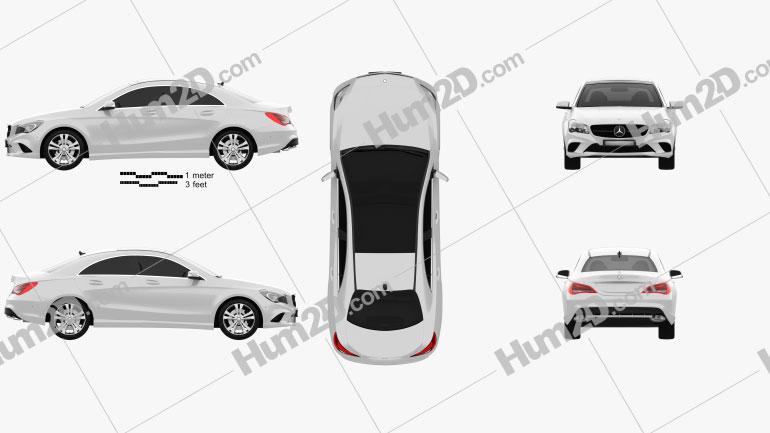 Mercedes-Benz CLA-Class (C117) 2013 car clipart