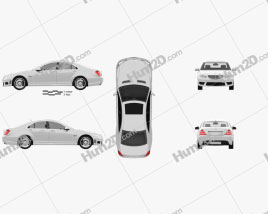 Mercedes-Benz S-class 65 AMG 2012 car clipart