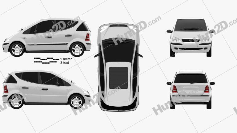 Mercedes-Benz A-class (W168) 1997 car clipart