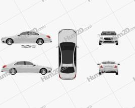 Mercedes-Benz S-Class (W222) 2014 car clipart