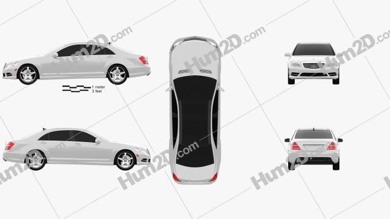 Mercedes-Benz S-Class (W221) 2012 Clipart Image