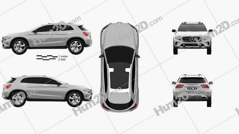 Mercedes-Benz GLA-class concept 2013 Clipart Image