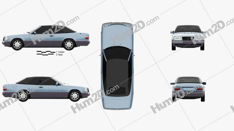 Mercedes-Benz E-class convertible 1993 car clipart