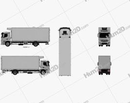 Mercedes-Benz Antos Box Truck 2012 Clipart