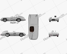 Mercedes-Benz 300 SLR 1955 car clipart