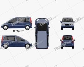 Mercedes-Benz Vaneo 2002 car clipart
