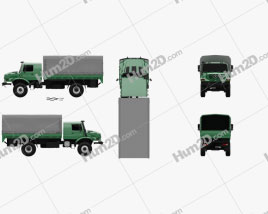 Mercedes-Benz Zetros Flatbed Truck 2-axle 2008 clipart