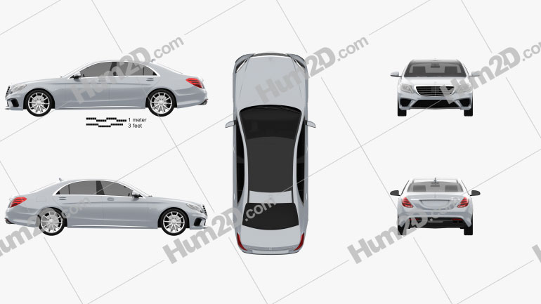 Mercedes-Benz S-Class 63 AMG (W222) 2014 car clipart