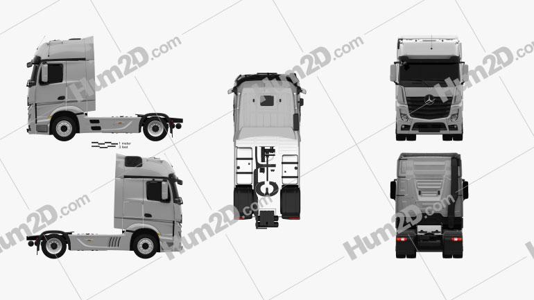 Mercedes-Benz Actros 1851 Tractor Truck 2013 clipart