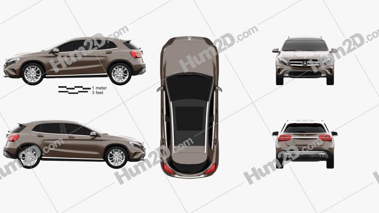 Mercedes-Benz GLA-class 2014 car clipart