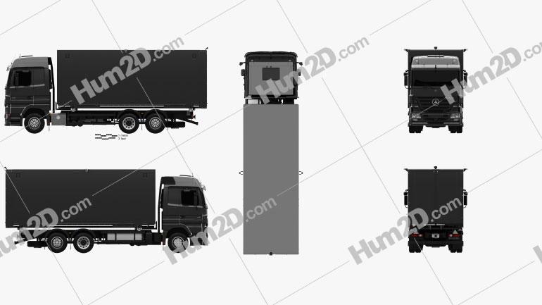 Mercedes-Benz Actros Box Truck 2002 clipart