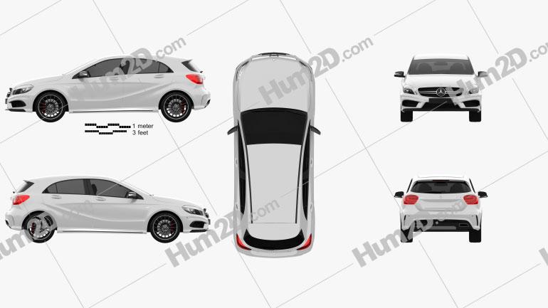 Mercedes-Benz A-Class AMG 2013 car clipart