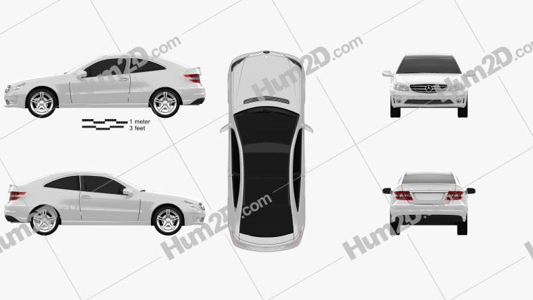Mercedes-Benz CLC-Class (CL203) 2008 Clipart Image