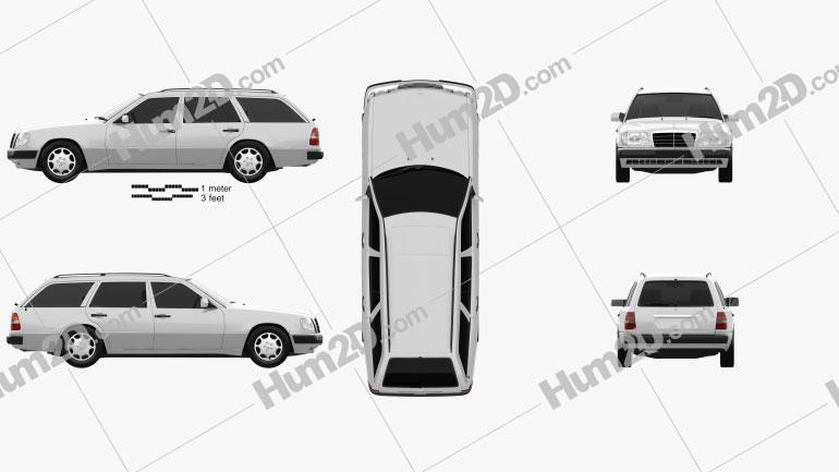 Mercedes-Benz E-Klasse Wagon 1993 car clipart