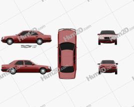 Mercedes-Benz E-Class sedan 1993 car clipart