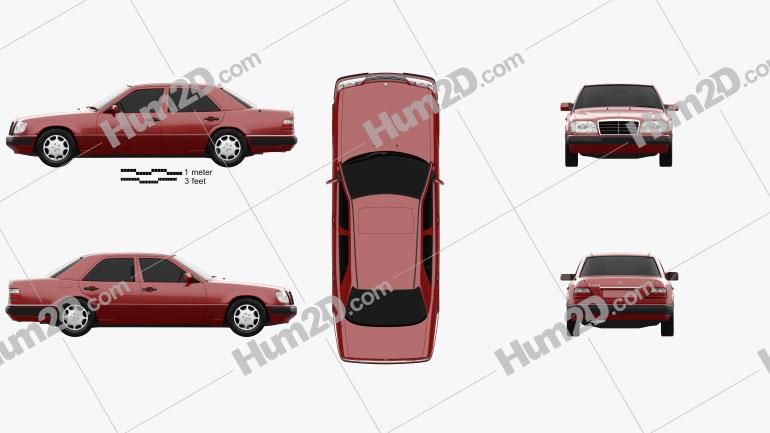 Mercedes-Benz E-Class sedan 1993 Imagem Clipart