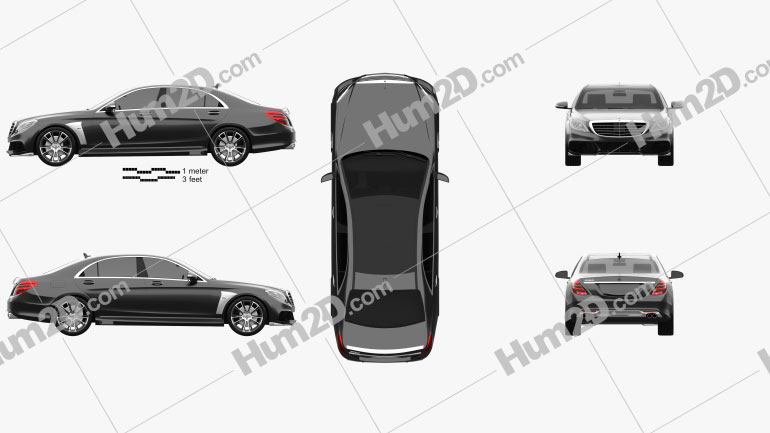 Mercedes-Benz S-Class (W222) Brabus 2014 car clipart